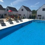 Domki letniskowe Palm Rogowo basen ze strefa relaksu
